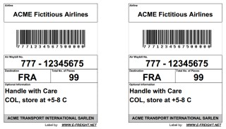 Double Air Cargo Label